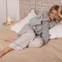 Comforters and pillows - YuYu Bottle -  June's Meadow Grey - YUYU BOTTLE