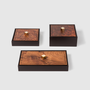 Petite maroquinerie - Urbino: Leather & Burl Wood  - PINETTI