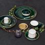 Art glass - Lush Forest porcelain plates - PORCEL