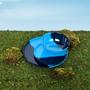 Assiettes au quotidien - ½ & ½ Melamine Light Blue / Navy Blue Side Plate - Set of 4 - THOMAS FUCHS CREATIVE