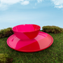 Everyday plates - ½ & ½ Melamine Fuchsia / Red Side Plate - THOMAS FUCHS CREATIVE