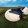 Everyday plates - ½ & ½ Melamine Ivory / Navy Blue Dinner Plate - THOMAS FUCHS CREATIVE