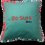 """Coussinstextile - Housse de coussin Velours """"Go Surf"""" - LOOPITA"""