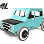 Cadeaux - Autogami - Renault 4L Bleue - LITOGAMI