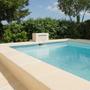 Piscines - Margelle de piscine en U aspect pierre - ROUVIERE COLLECTION