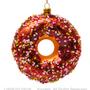 Décorations de Noël - DÉCORATION SUSPENDUE DE NOËL EN VERRE DONUT MARRON EN VERRE AVEC DÉCORATION H11 CM - VONDELS AMSTERDAM