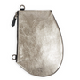 Pochettes - Zip Micro Metallic Silver - Pochette en cuir de haute qualité avec sangle amovible à glisser partout - MLS-MARIELAURENCESTEVIGNY