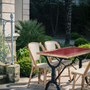 Lawn tables - ARDAMEZ • TRADITION Enamel bistro table / Ruby Red - ARDAMEZ