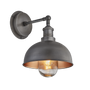 Appliques - Brooklyn Outdoor & Bathroom  Dome Wall Light - 8 Inch - INDUSTVILLE