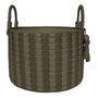 Decorative objects - Basket Paraty Woven Leather Degradê - ELISA ATHENIENSE HOME