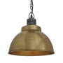 Hanging lights - Brooklyn Dome Pendant - 13 Inch - Brass - INDUSTVILLE