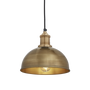Hanging lights - Brooklyn Dome Pendant Brass - 8 Inch - INDUSTVILLE