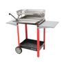 Barbecues - GRILLOIR BBQMFOG + LÈCHE FRITES + FOYER HORIZONTAL + CHARIOT - SAS MFOG