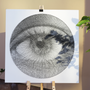 "Wall decoration - Art-Canvas ""eye"" Wall decoration - STRING THEORY"
