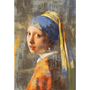 Wall decoration - MONDiART, AluArt, Girl with a pearl earring - MONDIART ART & DECORATIONS