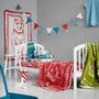 Throw blankets - BABY BLANKET CIRCUS BEAR BLUE – ORGANIC COTTON - FABGOOSE