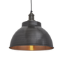 Pendant lamps - Brooklyn Dome Pendant - 13 Inch - Pewter & Copper - INDUSTVILLE