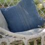 Coussinstextile - Hand Painted Linen  Pillow - GOVOU FABRICS