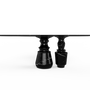 Tables - PIETRA OVAL NERO MARQUINA Dining Table - BOCA DO LOBO