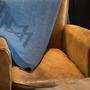 Travel accessories / suitcase - Blanket Merino Wool Extrfine DYE BLUE - LA MAISON DE LA MAILLE