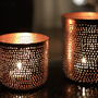 Candlesticks / candle holders - Maxi filigree tealight holder - MAISON ZOE