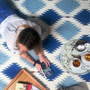 Design - Indigo rug - SANCHO PONCHO