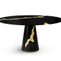 Tables - Empire Round Black Dining Table  - COVET HOUSE
