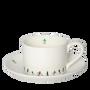 Mugs - Powderhound Ski Chain Tea Cup and Saucer - POWDERHOUND