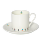 Mugs - Powderhound Ski Chain Espresso Cup and Saucer - POWDERHOUND