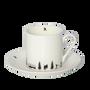 Mugs - Powderhound Joie De Vie Espresso Cup and Saucer - POWDERHOUND