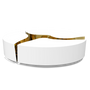 Tables basses - Table centrale ovale LAPIAZ BLANC - BOCA DO LOBO