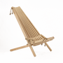 Lawn chairs - Ergonomic Chilean armchair in raw wood - several species available - B. ATTITUDE