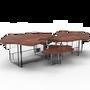 Tables basses - Table centrale MONET NOIX - BOCA DO LOBO