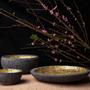 Ceramic - Amon-Ra 22K Gold Lava Stone Centerpiece - ARTYCRAFT