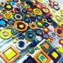 Wall coverings - Multicolours ceramic discs - MARSIA STUDIO CERAMICHE DI MARIELLA SIANO