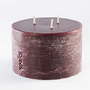 Candles - RUSTIC PILLAR SCENTED CANDLE 3 WICKS D15 - WAKS
