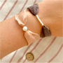 Jewelry - Florette bracelet with silk ribbon and pearl - JOUR DE MISTRAL