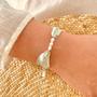 Bijoux - Bracelet Florette ruban de soie et perles - JOUR DE MISTRAL