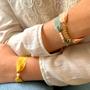 Bijoux - Bracelet soie Florette chaîne dorée Figuières - JOUR DE MISTRAL