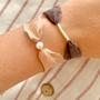 Bijoux - Bracelet ruban de soie Florette - JOUR DE MISTRAL