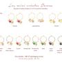 Jewelry - Mini hoop earrings Donna natural stones - JOUR DE MISTRAL