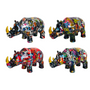 Céramique - Tirelire Rhino Ryan Graffiti - POMME-PIDOU