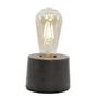 Table lamps - Concrete Lamp | Cylinder | Concrete anthrac - JUNNY