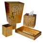 Waste baskets -  Monogram Bath Accessories - MIKE + ALLY