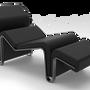 Chaises longues - Chaise longue Monroe en cuir - MYTTO
