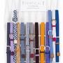 Leather goods - Women's braided belt blue white - VERTICAL L ACCESSOIRE