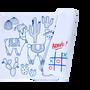 Papeterie - Silicone Mini Playmat - LAMA reversible avec 4 feutres inclus - SUPERPETIT