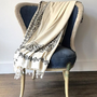Throw blankets - HANDPRINTED BEDCOVER THROW SOFA COVER BLANKET TABLE COVER  COTTON -LINEN CUSTOMMADE  - LALAY