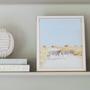 Homewear - Cadre en émail blanc et or - ADDISON ROSS