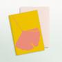 Carterie - Cartes de vœux - Coffret de 6 - Ginkgo Pop - COMMON MODERN